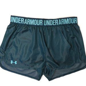Under Armour Play Up 2.0 Womens Green Shorts Gym